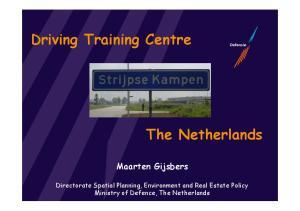 Driving Training Centre. The Netherlands. Maarten Gijsbers