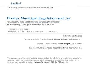 Drones: Municipal Regulation and Use