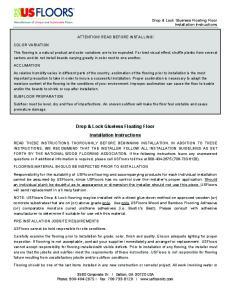 Drop & Lock Glueless Floating Floor Installation Instructions