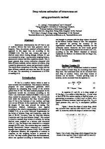 Drop volume estimation of intravenous set. using gravimetric method