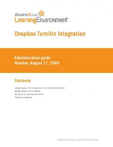 Dropbox Turnitin Integration