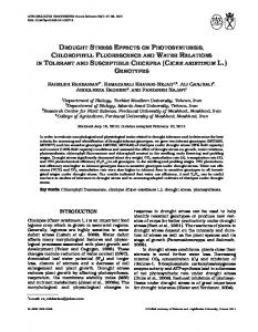 DROUGHT STRESS EFFECTS ON PHOTOSYNTHESIS, CHLOROPHYLL FLUORESCENCE AND WATER RELATIONS