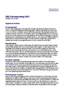 DRS 3 Jahreshoroskop 2012 Dienstag, 2. Januar 2012