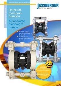 Druckluftmembranpumpen. Air operated diaphragm pumps