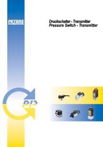 Druckschalter - Transmitter Pressure Switch - Transmitter