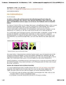 Druckversion - Geisteswissenschaften: Die Dickbrettbohrer - UniSP