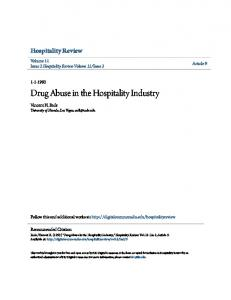 Drug Abuse in the Hospitality Industry