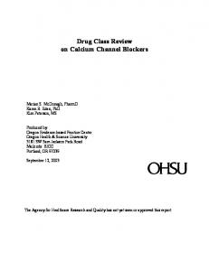 Drug Class Review on Calcium Channel Blockers