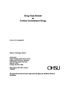 Drug Class Review on Urinary Incontinence Drugs