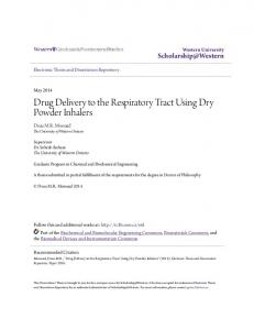 Drug Delivery to the Respiratory Tract Using Dry Powder Inhalers