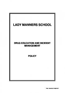 DRUG EDUCATION AND INCIDENT MANAGEMENT POLICY