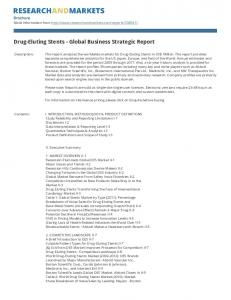 Drug-Eluting Stents - Global Business Strategic Report