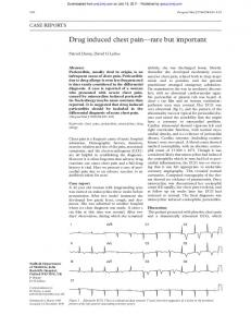Drug induced chest pain rare but important