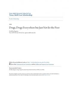 Drugs, Drugs Everywhere but Just Not for the Poor