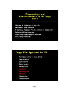 Drugs FDA Approved for TB
