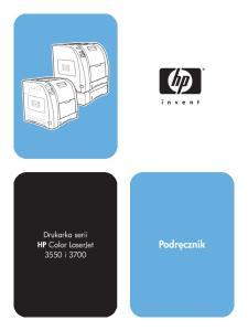 Drukarka serii HP Color LaserJet 3550 i Podr cznik