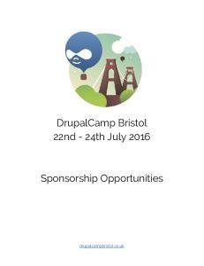 DrupalCamp Bristol 22nd - 24th July 2016