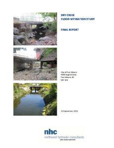 DRY CREEK FLOOD MITIGATION STUDY FINAL REPORT. City of Port Alberni 4850 Argyle Street, Port Alberni, BC V9Y 1V8