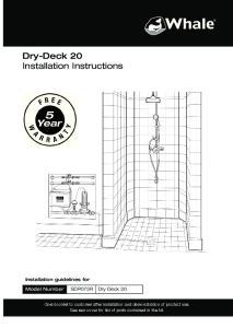 Dry-Deck 20 Installation Instructions