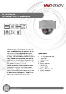 DS-2DE3204W-DE 2MP Network Mini PTZ Dome Camera