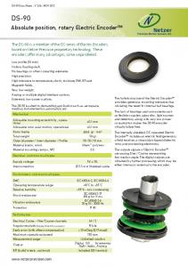 DS-90. Absolute position, rotary Electric Encoder