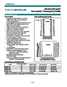 DS1643P Nonvolatile Timekeeping RAMs