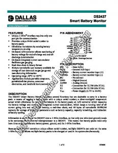 DS2437 Smart Battery Monitor