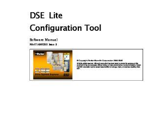 DSE Lite Configuration Tool