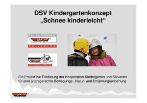 DSV Kindergartenkonzept Schnee kinderleicht