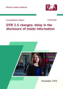 DTR 2.5 changes: delay in the disclosure of inside information