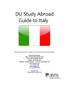 DU Study Abroad Guide to Italy