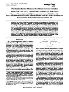 Dual-Bed Gasification of Petcoke: Model Development and Validation