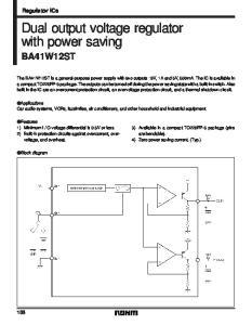 Dual output voltage regulator with power saving