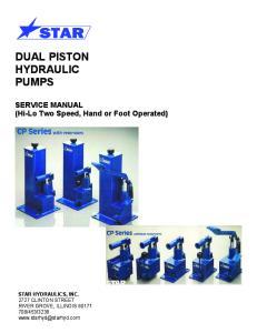DUAL PISTON HYDRAULIC PUMPS