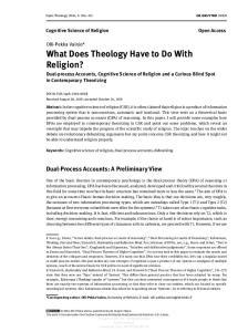 Dual-Process Accounts: A Preliminary View