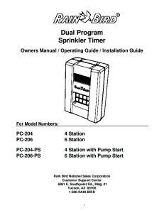 Dual Program Sprinkler Timer