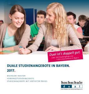 DUALE STUDIENANGEBOTE IN BAYERN