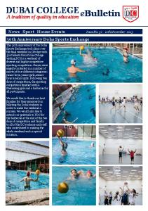 DUBAI COLLEGE. ebulletin. A tradition of quality in education