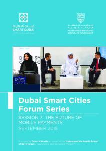 Dubai Smart Cities Forum Series
