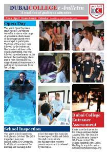 DUBAICOLLEGE e -bulletin A tradition of quality in education
