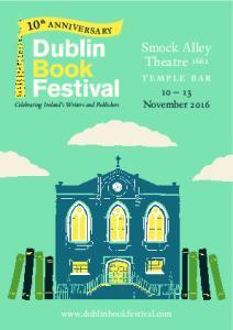 Dublin Book Festival. Smock Alley Theatre 1662 temple bar November