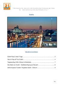 Dublin. Inhaltsverzeichnis