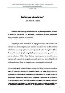 Duchamp as a transformer* 1