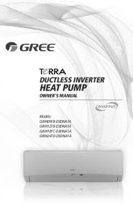 DUCTLESS INVERTER HEAT PUMP OWNER S MANUAL