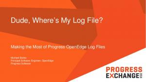 Dude, Where s My Log File?