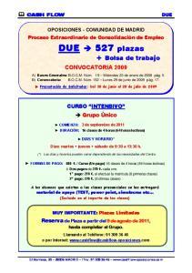 DUE 527 plazas + Bolsa de trabajo