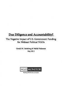 Due Diligence and Accountability?
