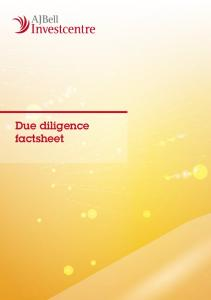 Due diligence factsheet
