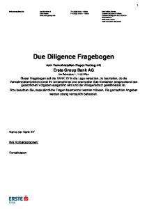 Due Diligence Fragebogen