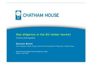 Due diligence in the EU timber market